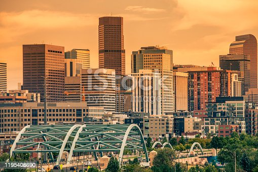 Denver, CO downtown  at sunlight-