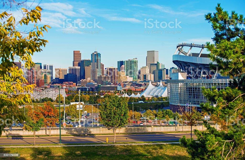 Denver Cityscape Colorado stock photo