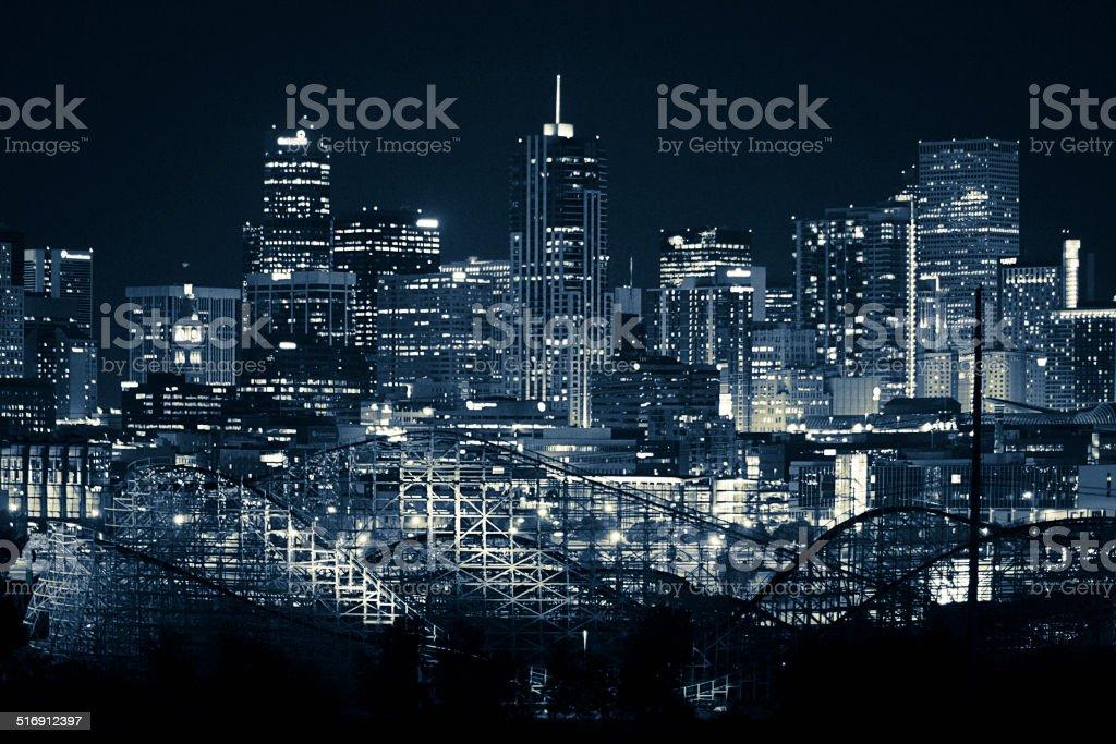 Denver Colorado Blue Skyline stock photo