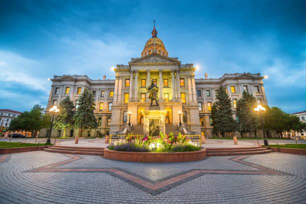 Denver Colorado Capital Building stock photo