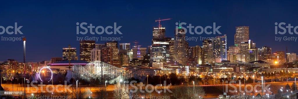 Denver Colorado - panoramic stock photo