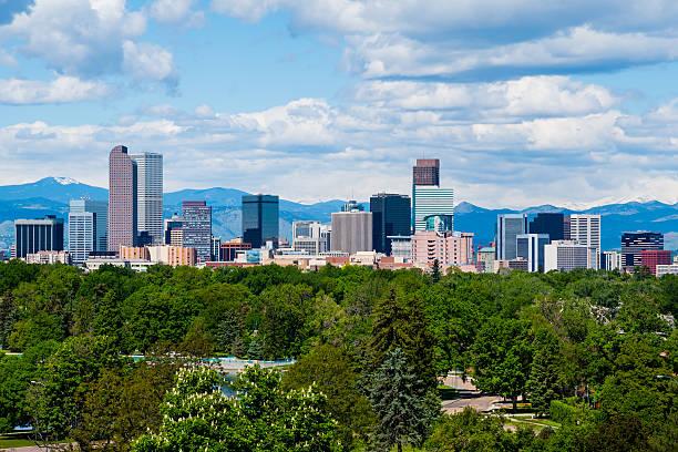Denver Colorado Skyscrapers in downtown Denver, Colorado denver stock pictures, royalty-free photos & images