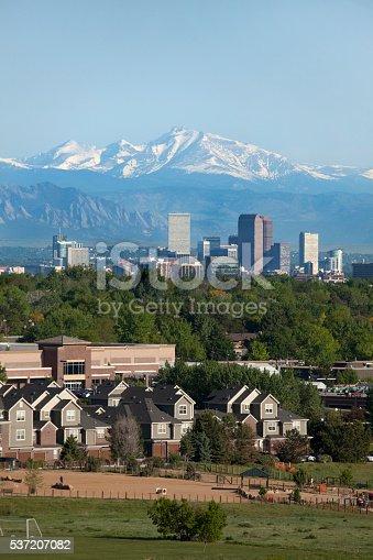 istock Denver Colorado skyscrapers condos Longs Peak Rocky Mountains 537207082