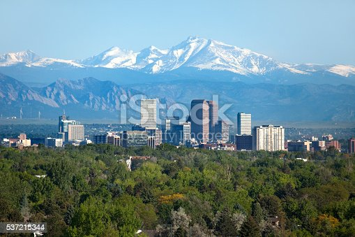 istock Denver Colorado skyscrapers snowy Longs Peak Rocky Mountains summer 537215344