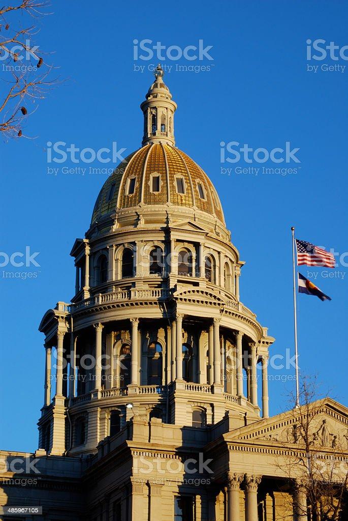 Denver Colorado State Capitol stock photo