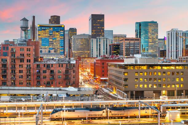 Denver, Colorado, USA Downtown Cityscape stock photo