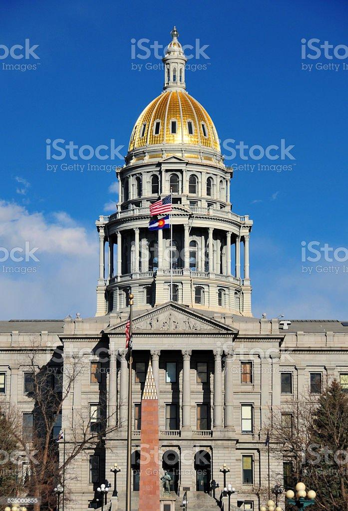 Denver, Colorado, USA: the gold domed Colorado State Capitol stock photo