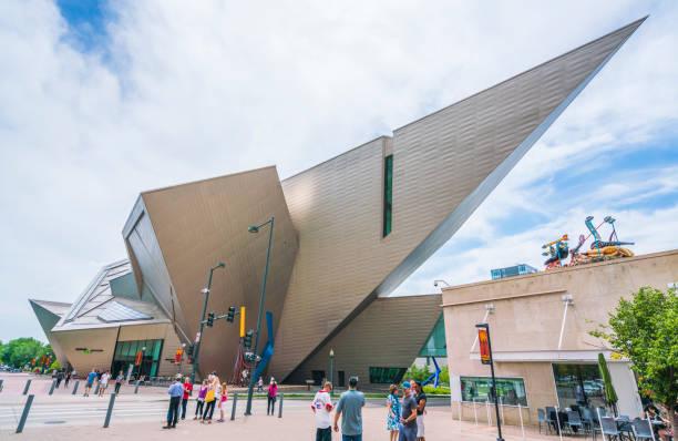 denver ,colorado,usa. 06/11/17: denver art museum on sunny day. stock photo
