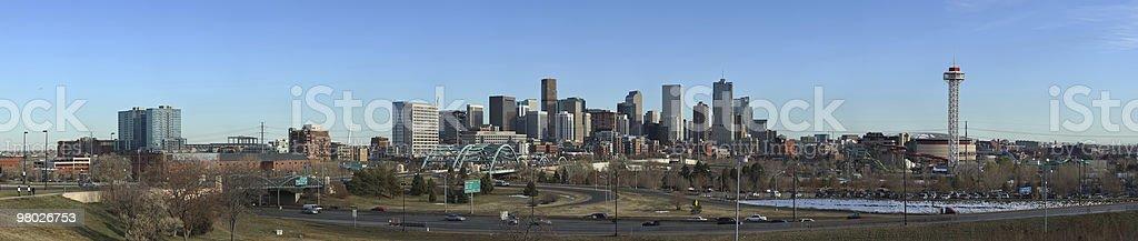 Denver downtown panorama (XXXL) royalty-free stock photo