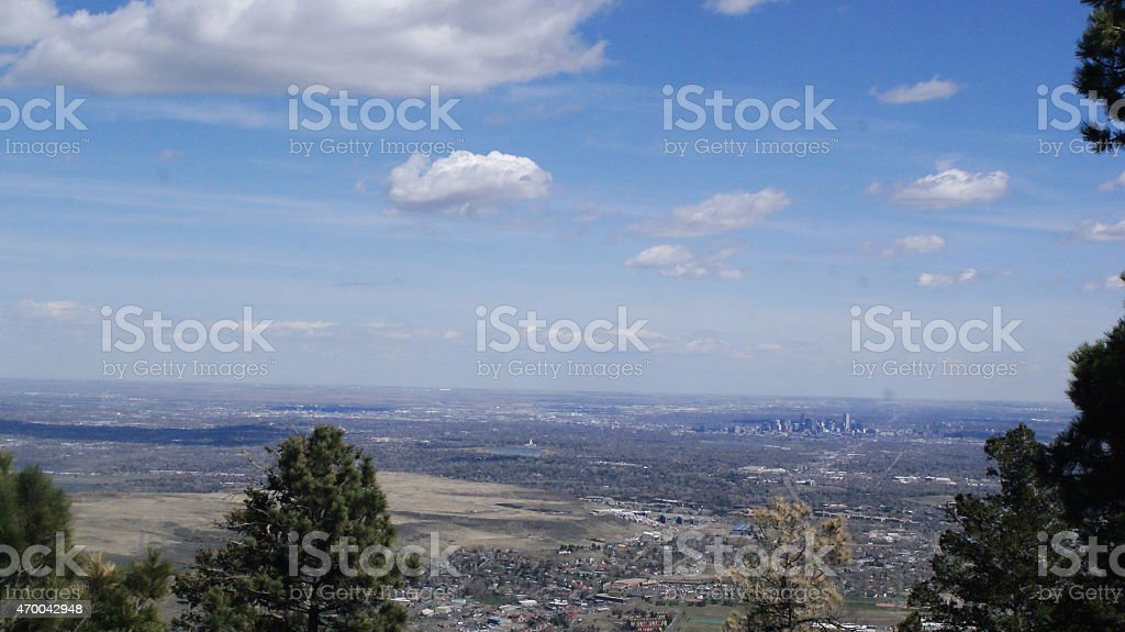 Denver from Lookout Mountain stock photo