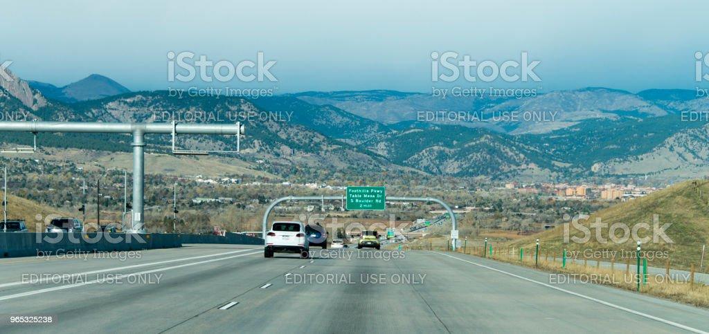 Denver Highway zbiór zdjęć royalty-free