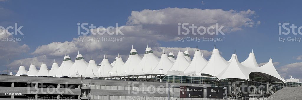 Denver International Airport Panorama stock photo