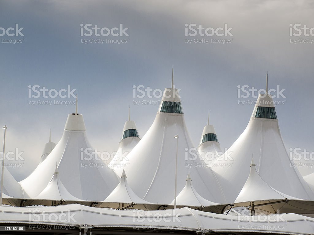 Denver International Airport royalty-free stock photo