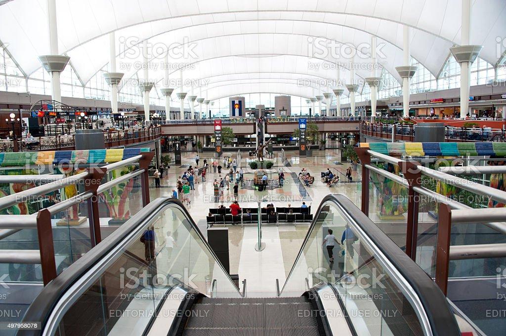 Denver International Airport stock photo