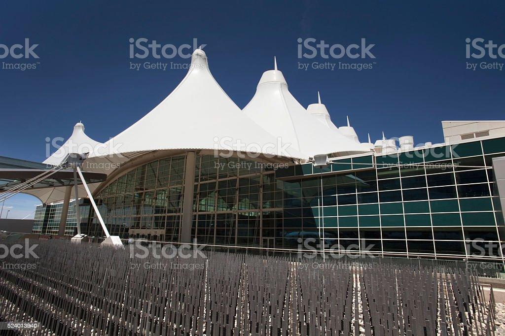 Aeroporto Internacional de Denver teepees arquitetura moderna, Colorado - foto de acervo