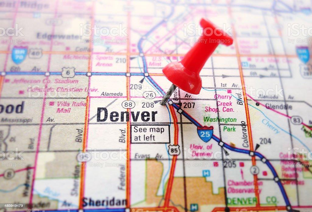 Denver map stock photo