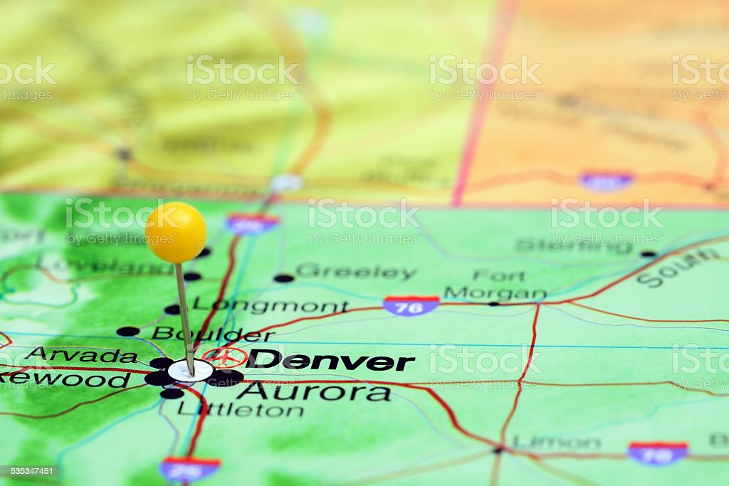 Denver Pinned On A Map Of Usa Stock Photo More Pictures Of 2015