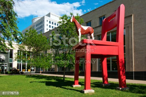 Denver, USA - May 27, 2014: The Denver Public Library is the public library of the city of Denver, Colorado in the United States. It was designed by Michael Graves and presents an example of postmodern architecture.