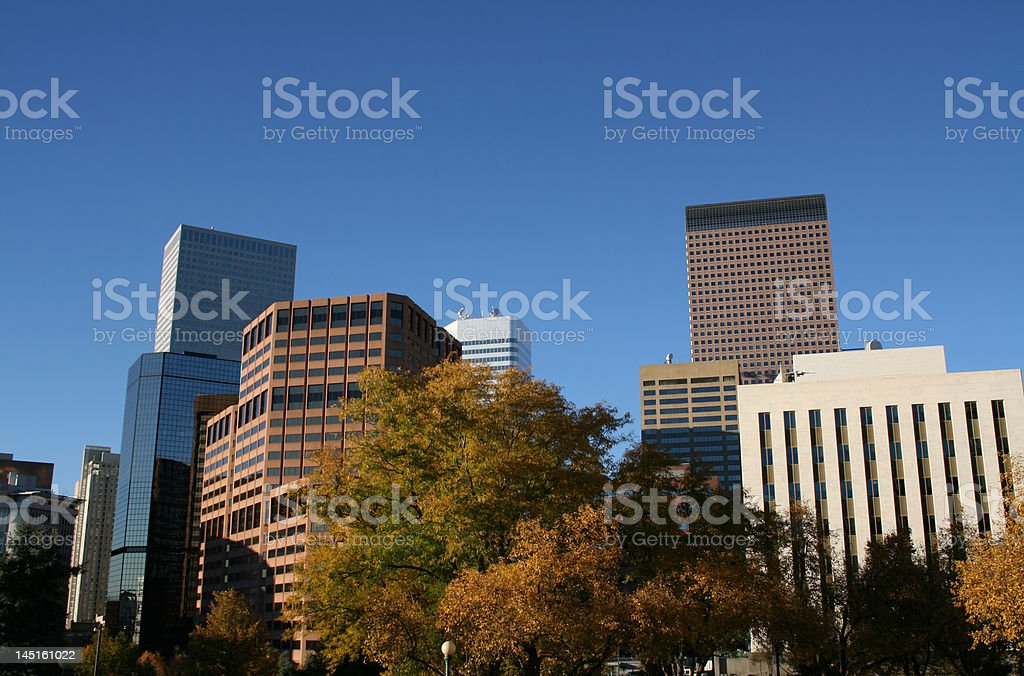 Denver skyline in autumn royalty-free stock photo