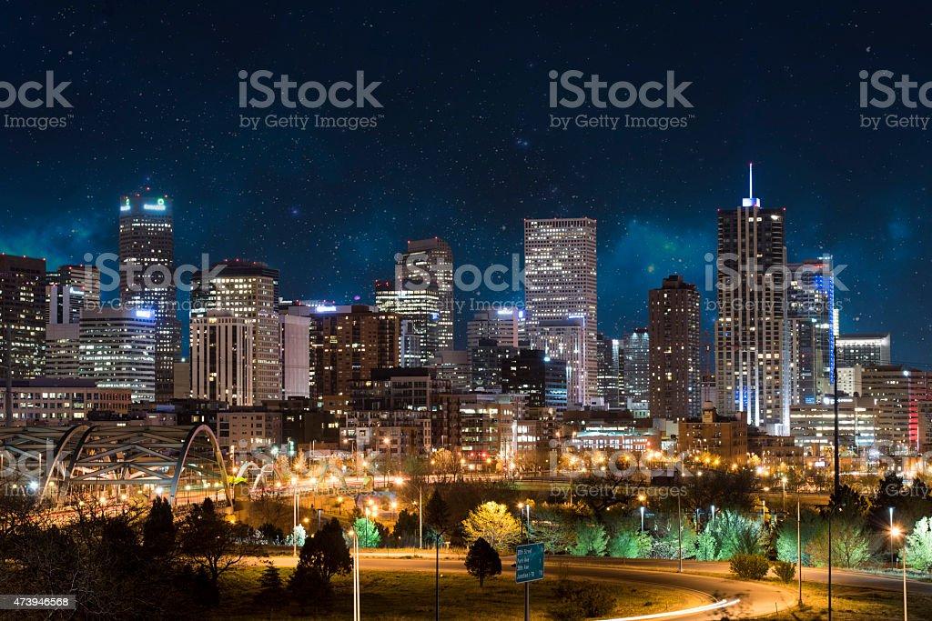 Denver Skyline stock photo