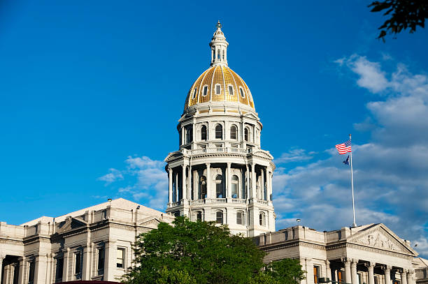 denver state capitol building - colorado - colorado state capitol stock photos and pictures