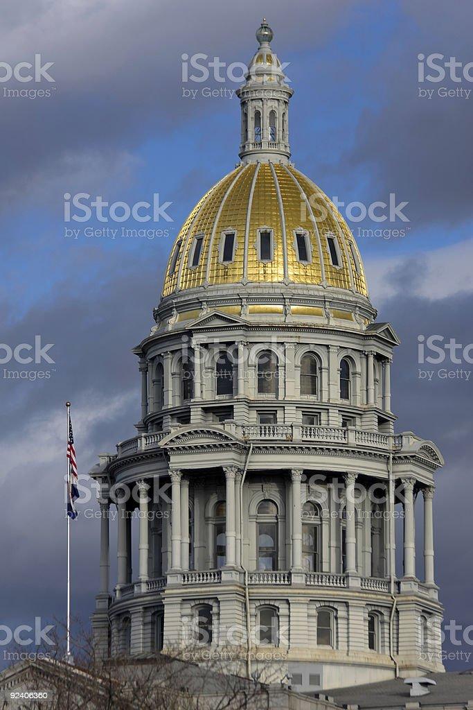 Denver State Capitol Dome stock photo