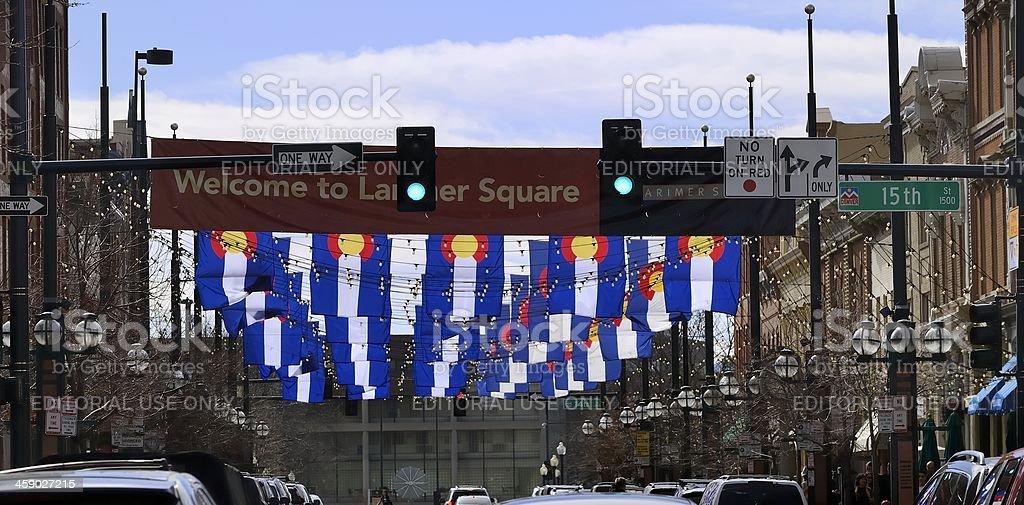 Denver Street Scene royalty-free stock photo