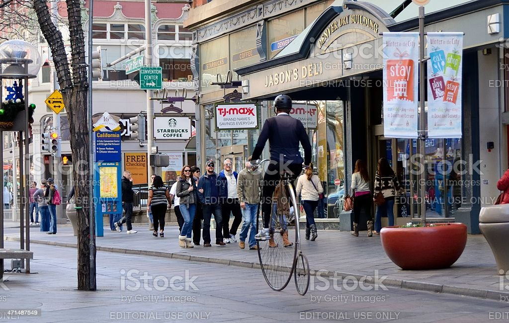 Denver Street Scene royalty-free stock photo