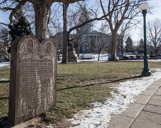 Denver Ten Commandments stock photo