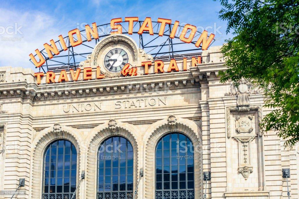 Denver's Union Station stock photo