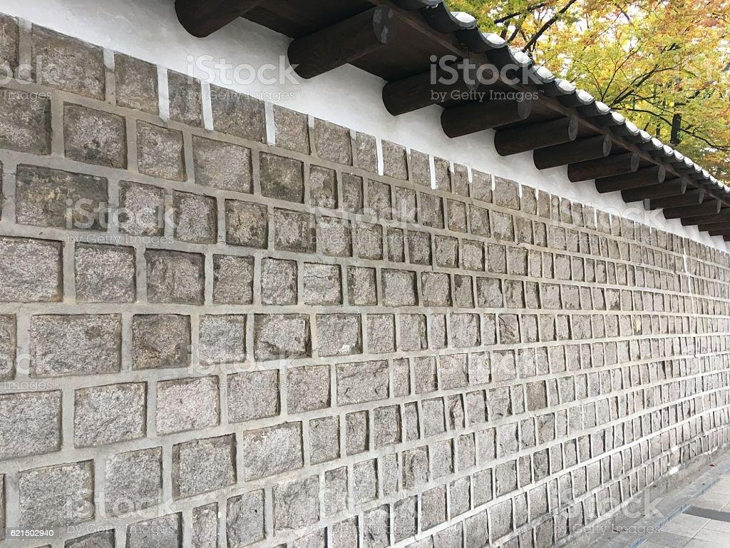 deoksugung palace wall Lizenzfreies stock-foto
