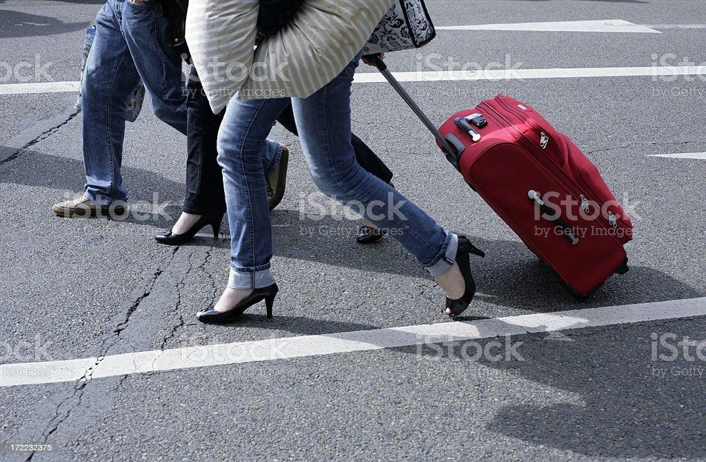 depart en vacances stock photo