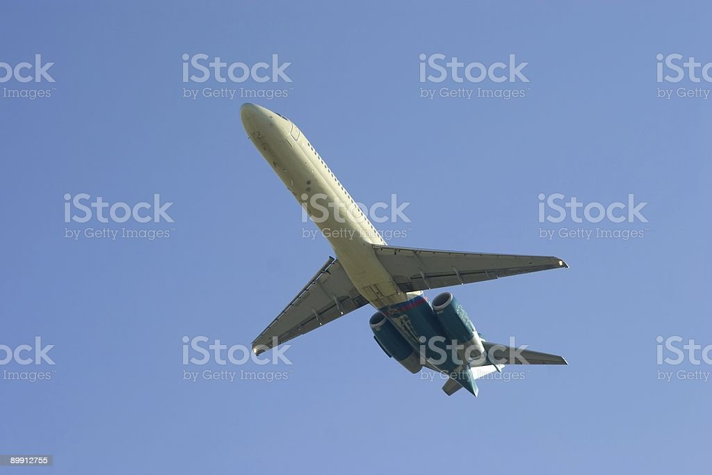 Departing Airliner royalty-free stock photo