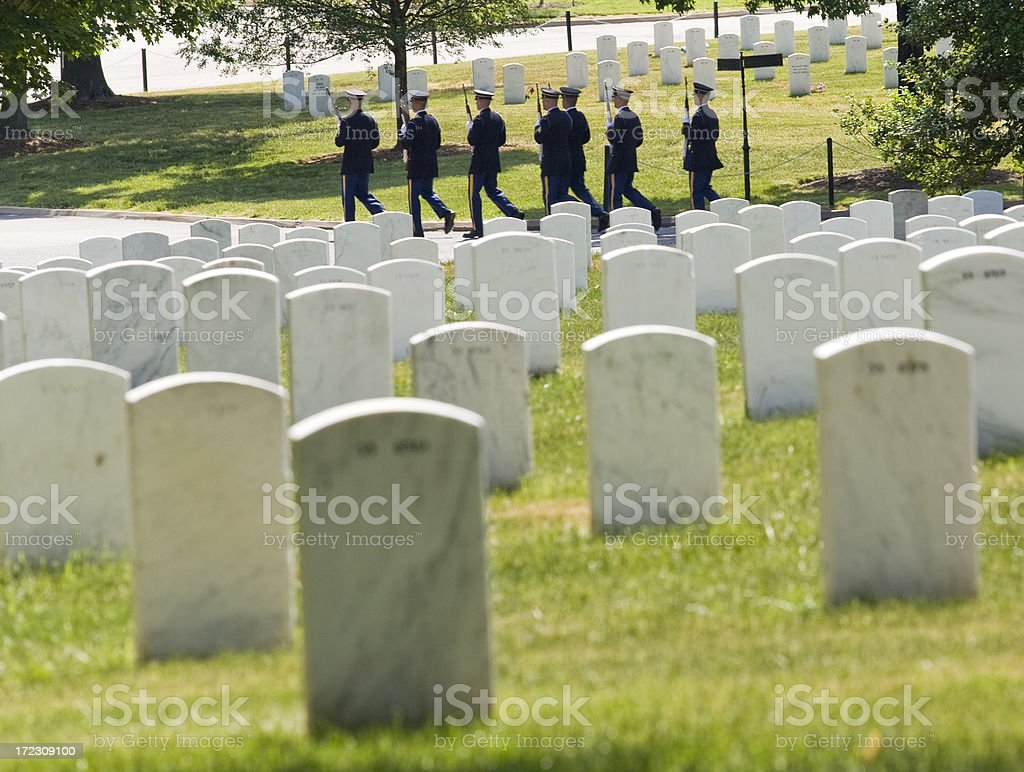 Departing Honor Guard royalty-free stock photo