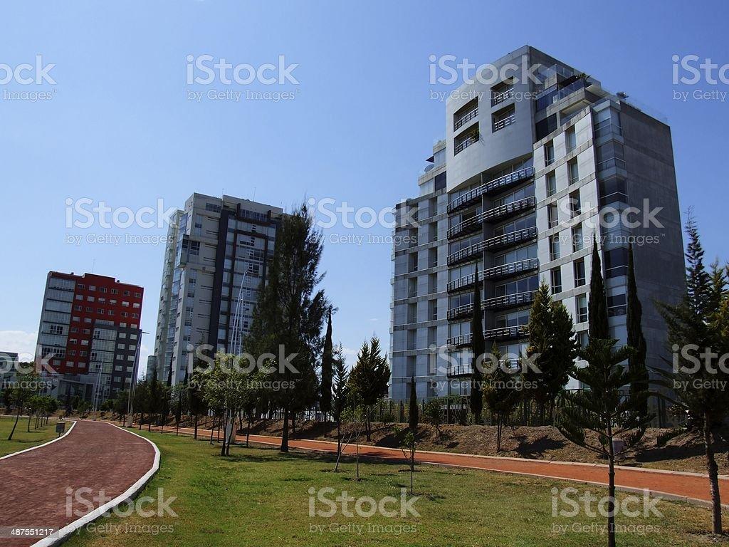 Departamento de construcción de los edificios de la ciudad - foto de stock