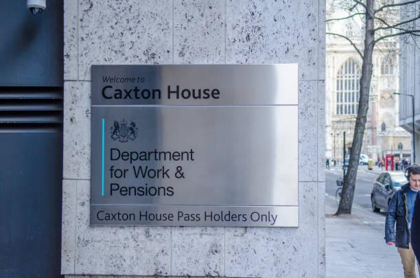 Departamento de trabajo y Pensiones en Caxton House en Westminster, Londres - foto de stock