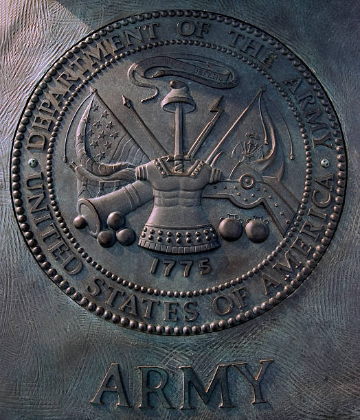department of army arms - insignia stock photos and pictures