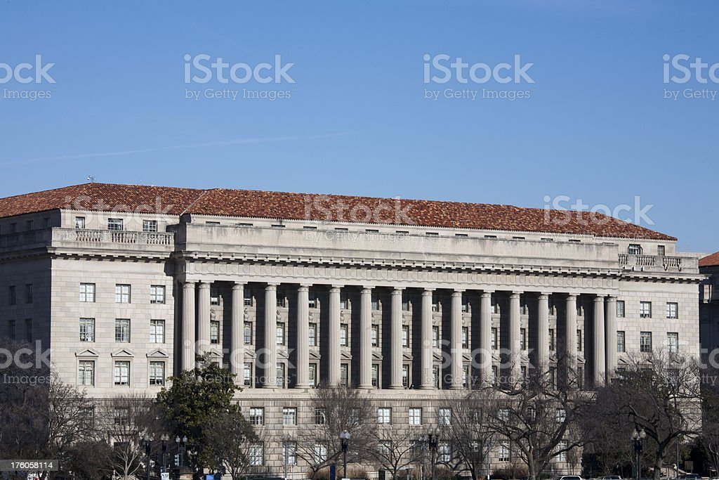 Department of Commerce Building, Washington DC royalty-free stock photo