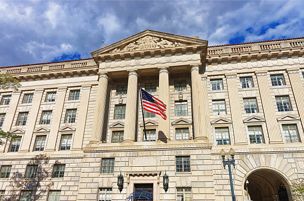 Department of Commerce in Herbert Hoover Building Herbert C. Hoover Building is located in Washington D.C., USA. It is the headquarters for the United States Department of Commerce. It was built in 1932 and renamed after Herbert Hoover in 1981. federal building stock pictures, royalty-free photos & images
