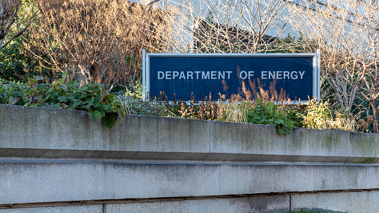 US Department of Energy Sign