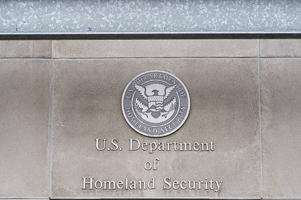 U.S, Department of Homeland Security Milwaukee, WI, USA- 8 March 2016:  U.S, Department of Homeland Security logo on a federal building department of homeland security stock pictures, royalty-free photos & images