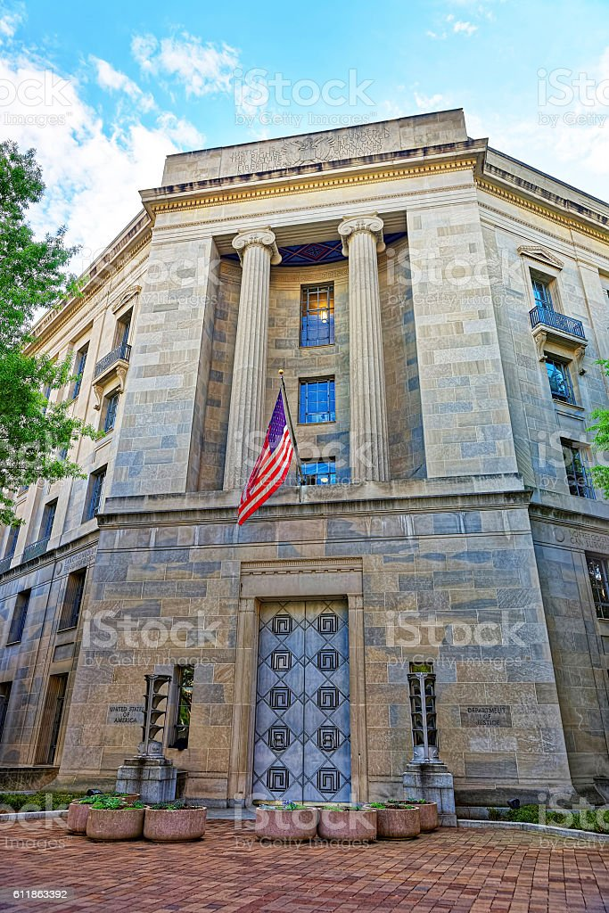 Department of Justice in Washington DC USA stock photo