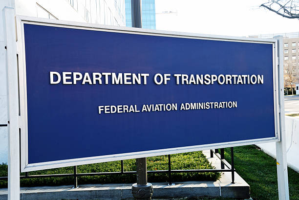 US Department of Transportation, FAA office building sign. stock photo