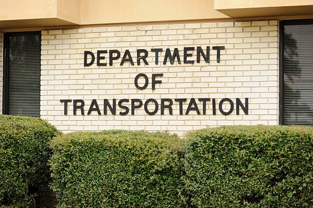Department of transportation stock photo