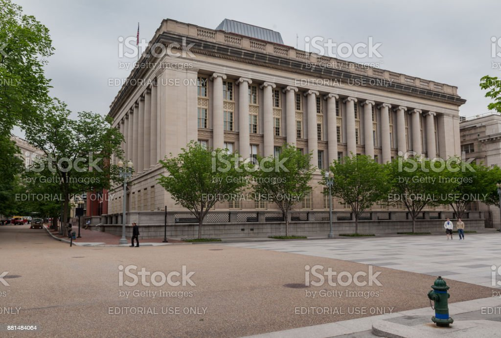 US Department of Treasury Annex Washington DC stock photo