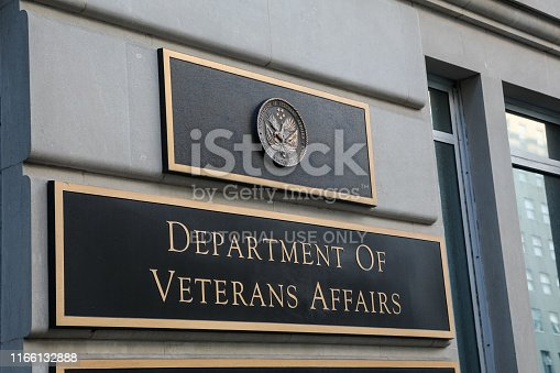 Washington, D.C., USA - July 20, 2019:Exterior shots are photographed on the afternoon of July 20, 2019 at the Department of Veterans Affairs. This group is tasked with handing benefits for the veterans of the United States military. Their headquarters is located in Washington, D.C.