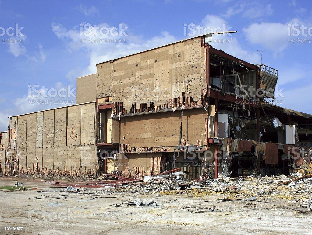 department store destruction royalty-free stock photo