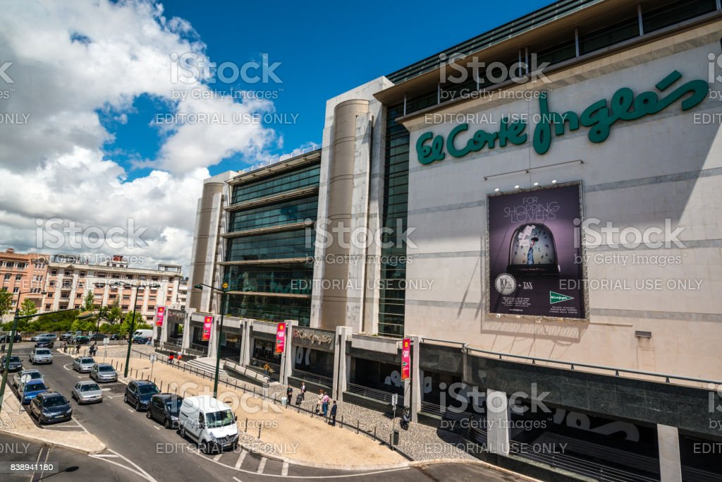 1081115ce Department Store El Corte Ingles in Lisbon, Portugal - Stock image .