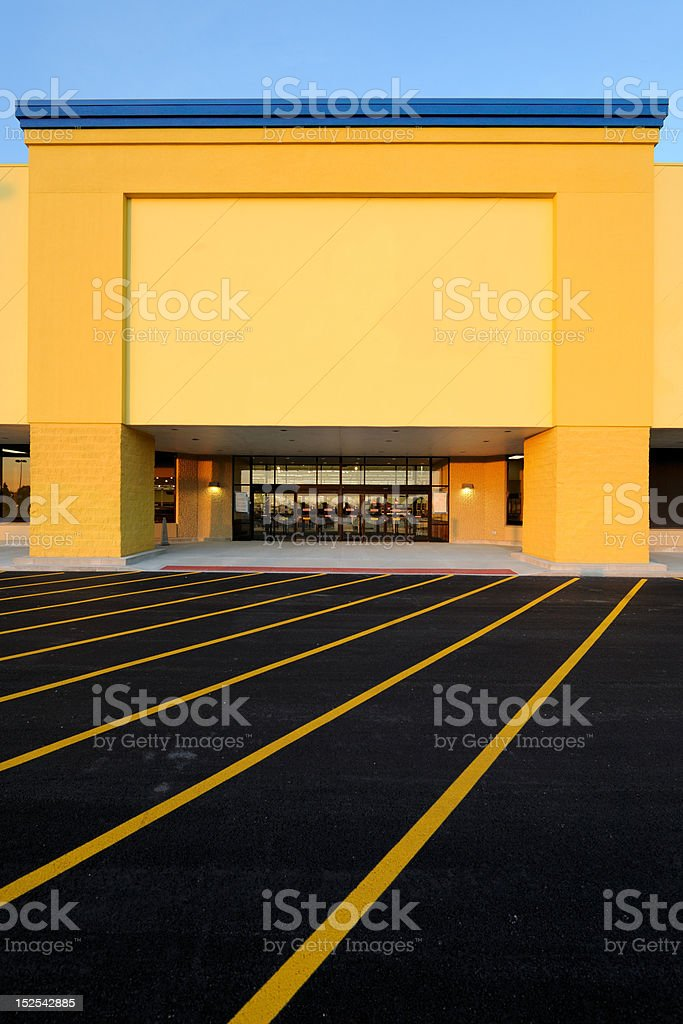 Department store entrance royalty-free stock photo