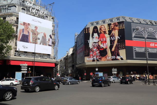 Department stores in Paris, France stock photo